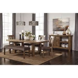 signature design by ashley tamilo gray brown rectangle dining table grey finish dining table