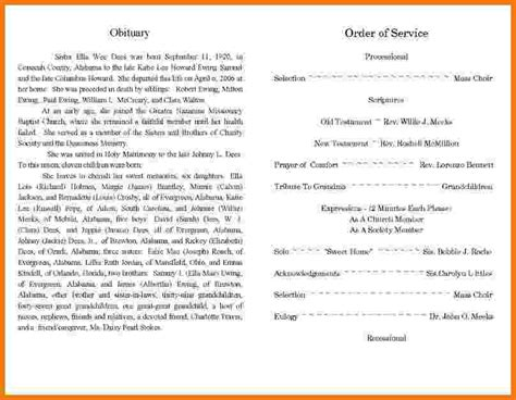 template for obituary 5 sle obituary templates itinerary template sle