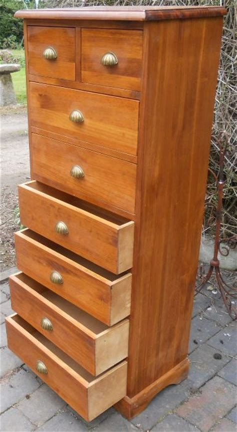 tall shallow chest of drawers sold tall narrow beech wood chest of drawers
