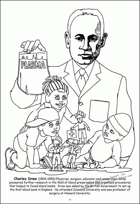 charles drew famous african americans coloring pages