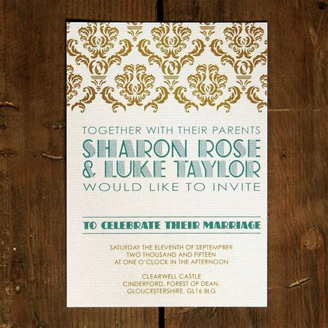 Wedding Invitations Gatsby by Deco Gatsby Wedding Invitation By Feel Wedding