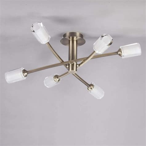 vintage semi flush ceiling lights semi flush ceiling light octi antique brass from litecraft