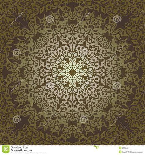 ottoman motifs seamless pattern in mosaic ethnic style stock