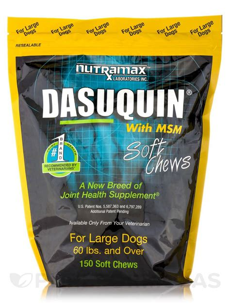dasuquin with msm for large dogs dasuquin 174 with msm for large dogs 150 soft chews