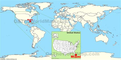 where is on the map miami on the world map