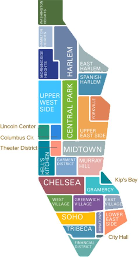 New York Map Districts by Sp New York Neighborhood Daily Parking