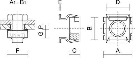 dado in gabbia dado in gabbia quadra in acciaio univiti
