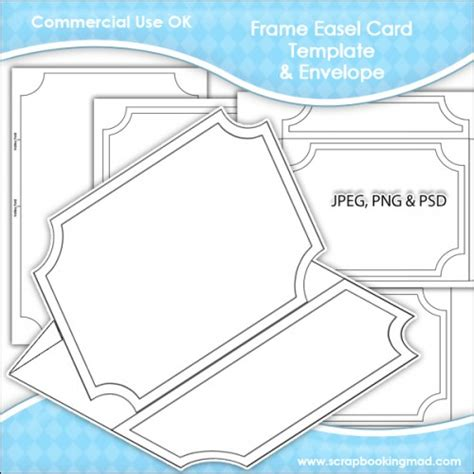 easel card template frame easel card envelope template commercial use ok 163