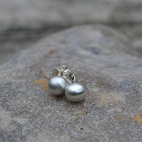 Handmade Silver Stud Earrings - handmade silver pea stud earrings by muriel