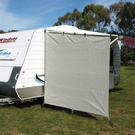 shade walls for caravan awnings caravansplus camec caravan end wall 90 shade sloped