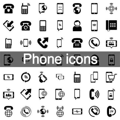 mobile phone set mobile phone icon set vector free