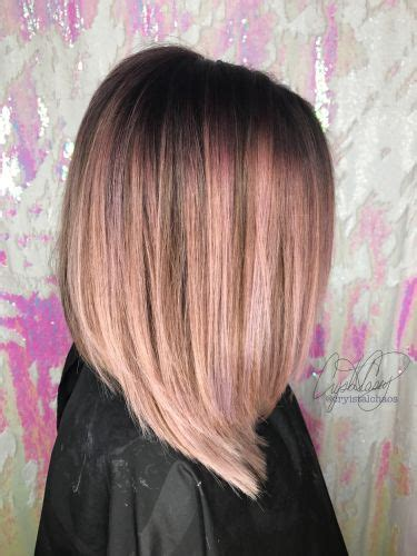 medium length hairstyles for straight hair rose gold layered bob rose gold hair bob hair color ideas and styles for 2018
