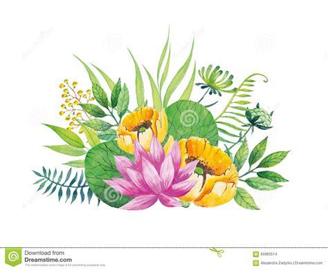 Pink Flower Watercolor Background Royalty Free Illustration   CartoonDealer.com #84599616