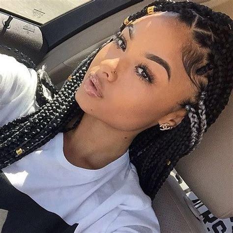 gray poetic justice braids india love with box braids grey streaks