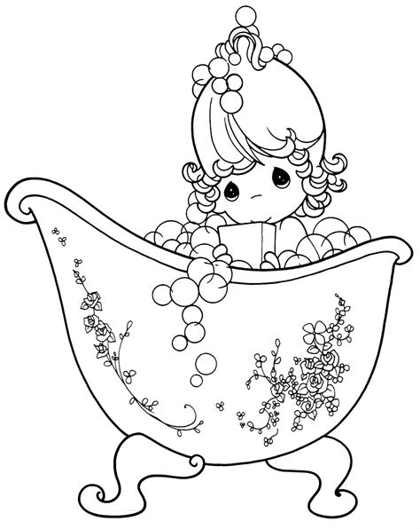 free coloring pages of precious moments god