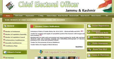 Electoral Roll Address Search Jammu And Kashmir Voter List 2013 Ceo Jammu And Kasn Hmir