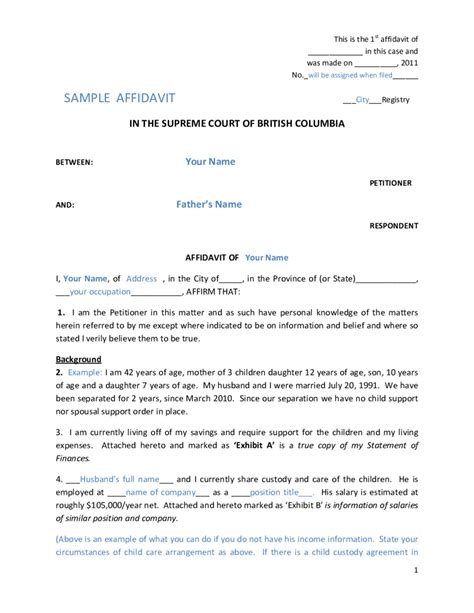 Divorce Letter Sle Sle Divorce Affidavit Letter 52 Images Notarized Letter For Spousal Support The Knownledge