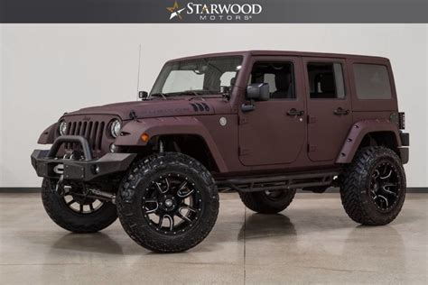 jeep rubicon 2017 maroon starwood motors 2017 jeep wrangler unlimited rubicon