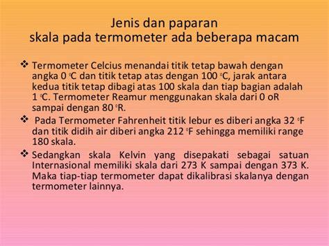 Dan Jenis Termometer suhu dan kalor ppt kelompok 5
