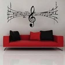 music note home decor amazon com musical notes center clef wall decal home