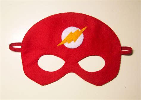 flash superhero felt mask 3 years adult size red white