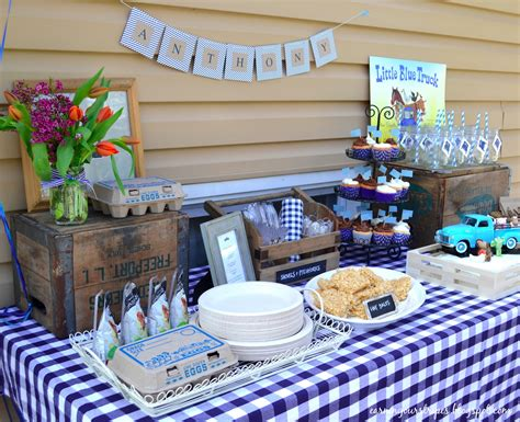 html table themes earning our stripes little blue truck birthday party