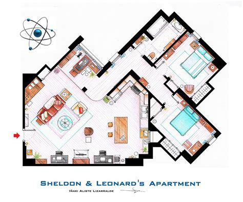 famous floor plans artsy architectural apartment floor plans from tv shows 9