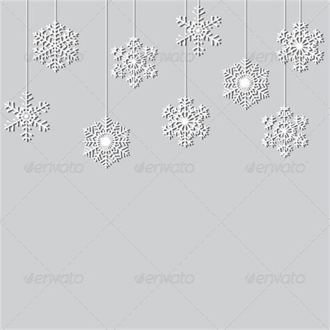 How To Make Hanging Paper Snowflakes - hanging paper snowflake background by prikhnenko