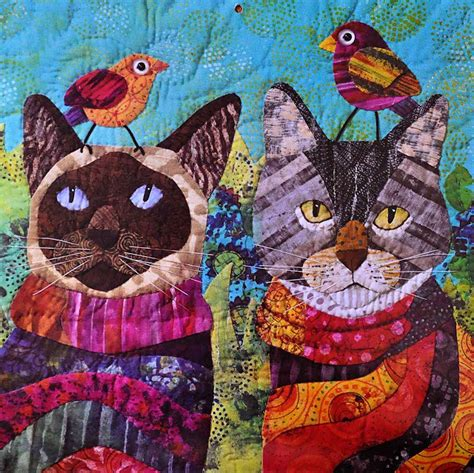 Quilting Cats by On Quincy Cat Quilt