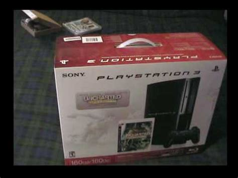 reset video ps3 fat ps3 160gb unboxing limited edition with uncharted drake s