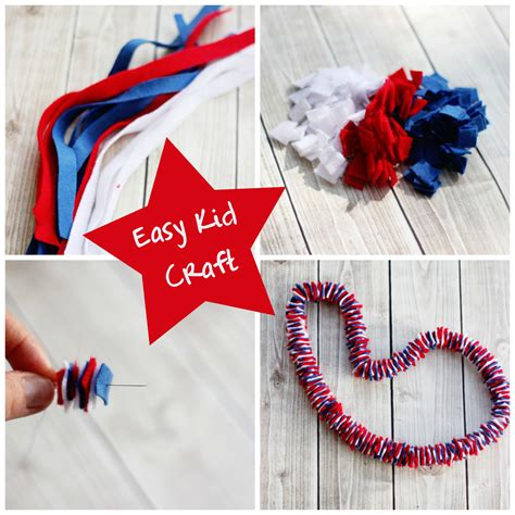 patriotic crafts for easy kid s craft felt necklace sweet t makes three