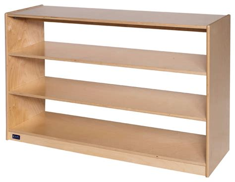 open back mobile storage two fixed shelves 30 quot