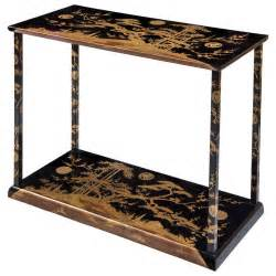 Japanese Console Table A And Japanese Black And Gold Lacquer Console Table At 1stdibs