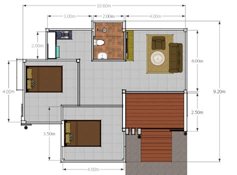 modern 2 bedroom house plans modern 2 bedroom single story house pinoy house plans