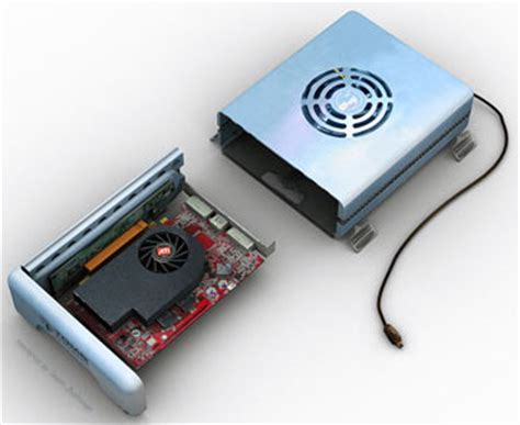 how to make a external graphics card ati to release power hungry external card