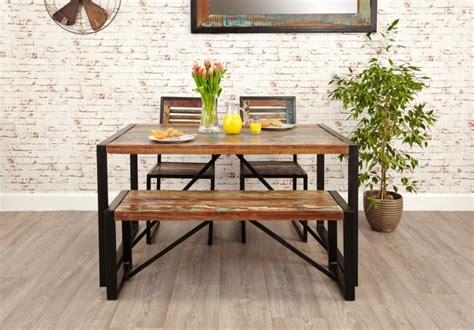 small dining set with bench buy baumhaus urban chic small dining set with 2 chairs and