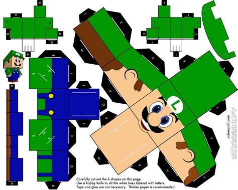 Design Papercraft - cubeecraft cubeecraft paper mario luigi
