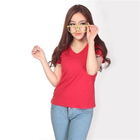Hotlist Pakaian Baju Kaos Cowok Pria Shirt Polos kaos polos katun wanita v neck size l 81105 t shirt jakartanotebook