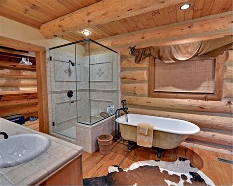 cabin bathrooms ideas cabin bathroom ideas pictures remodel and decor
