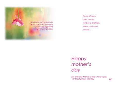 Happy Mothers Day Card Template by Printable Happy Mothers Day Cards Free Certificate