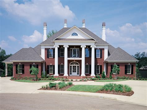 Keatington Southern Home Plan 020s 0001 House Plans And More House Plans With Large Columns