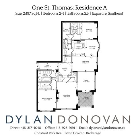st thomas suites floor plan 1 st thomas st two bedroom residence a b