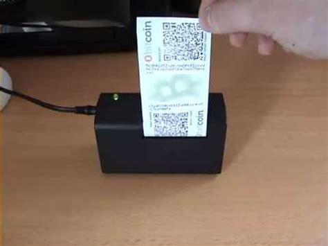 bitcoin offline wallet standalone bitcoin offline wallet printer demo youtube