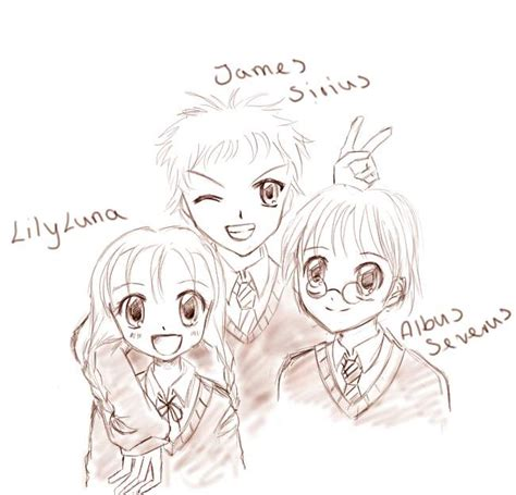 James, Albus and Lily Potter by oOItoeOo on DeviantArt
