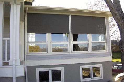 blinds exterior solar shades traditional deck other metro by blinds insolroll solar screens and shades k to z window coverings