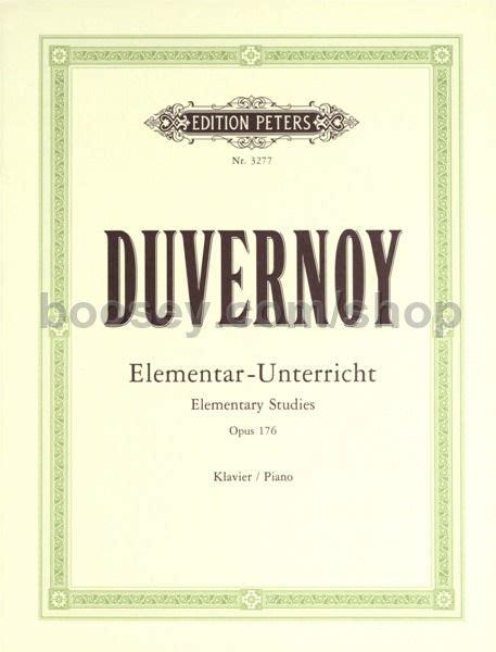 Buku Piano Duvernoy Op 176 elementary studies op 176 duvernoy jean baptiste