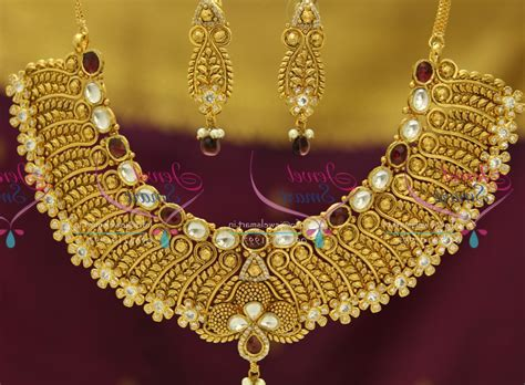 Handmade Kundan Jewellery - nl exclusive gold design finish kundan ad handmade grand