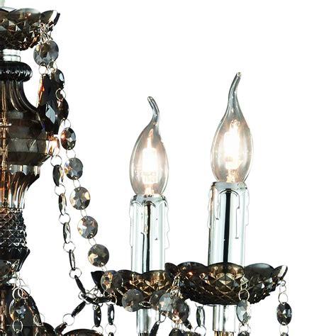 kronleuchter zusammenbauen reality trio acryl kronleuchter l 252 ster 5 flammig schwarz
