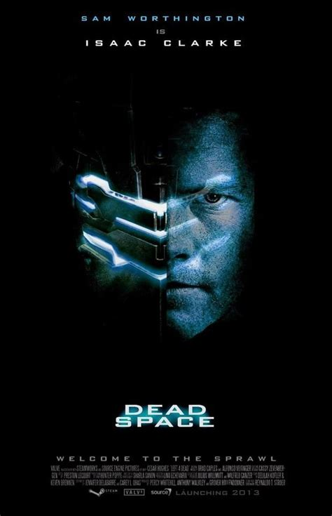 sam worthington space movie dead space movie poster sadly it s fake but omg if this