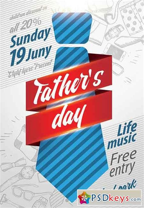 father s day psd flyer template facebook cover 187 free